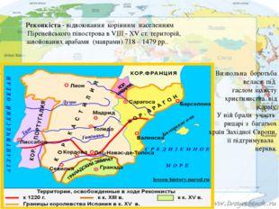 Реконкіста- відвоювання корінним населенням Піренейського півострова в VI