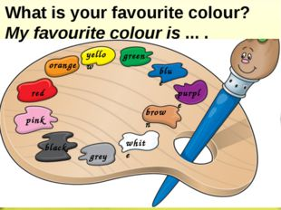 orange yellow green blue purple brown white grey black pink red What is your