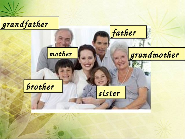 grandfather father grandmother mother brother sister