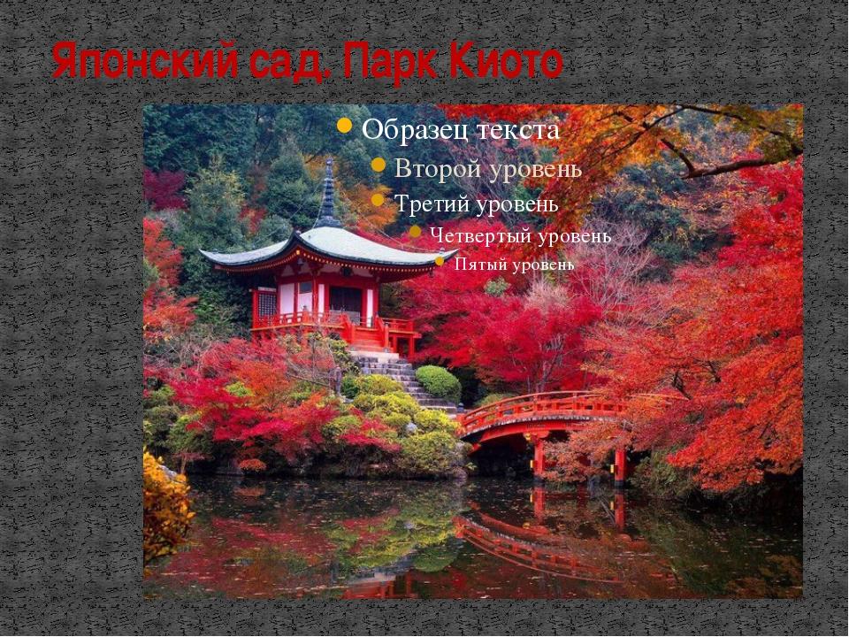 Японский сад. Парк Киото