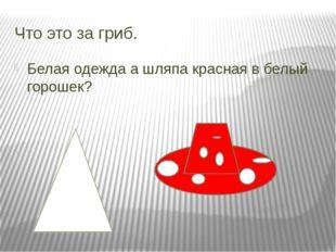 Что это за гриб. Белая одежда а шляпа красная в белый горошек?