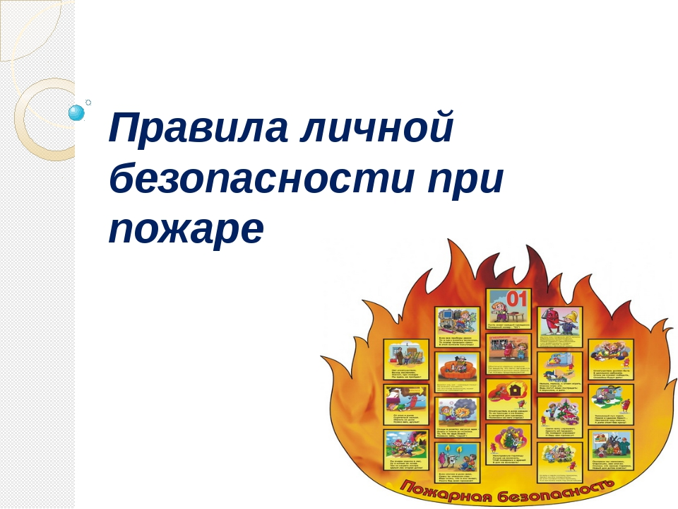Правила личной безопасности при пожаре