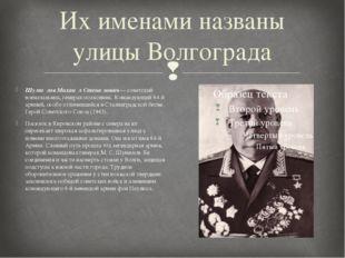 Их именами названы улицы Волгограда Шуми́лов Михаи́л Степа́нович— советский в
