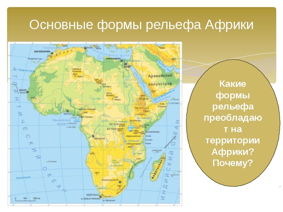 В рельефе африки преобладают равнины. почему