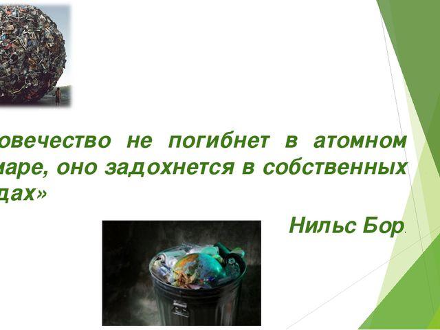 «Человечество не погибнет в атомном кошмаре, оно задохнется в собственных от...