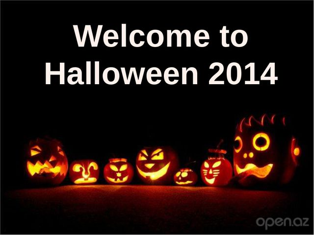 Welcome to Halloween 2014