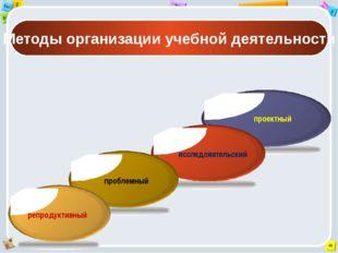 Методы организации учебной деятельности проектный исследовательский проблемн