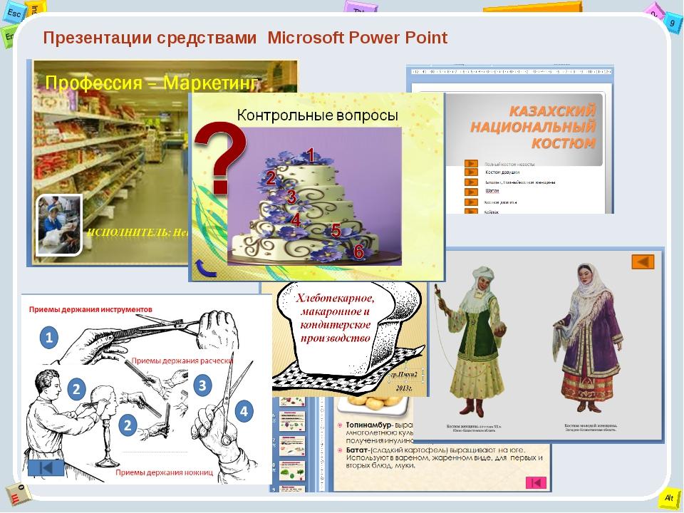 Презентации средствами Microsoft Power Point 2 Tab 9 Alt Ins Esc End O Щ