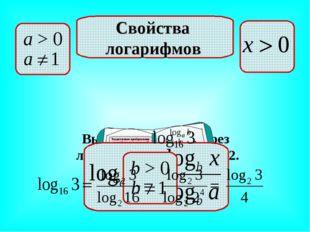 Выразить через логарифм с основанием 2. Свойства логарифмов