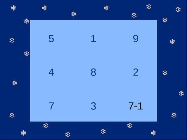 5 1 9 4 8 2 7 3 7-1