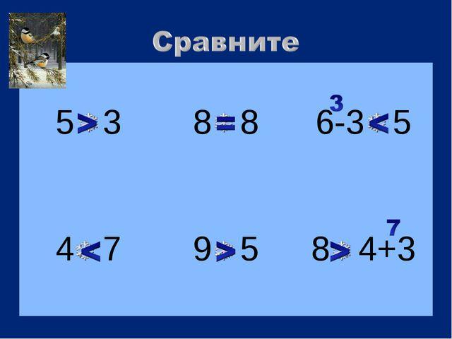 5 3  8 8 6-3 5 4 7  9 5  8 4+3