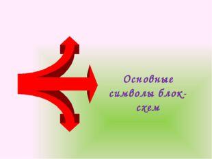 Основные символы блок-схем