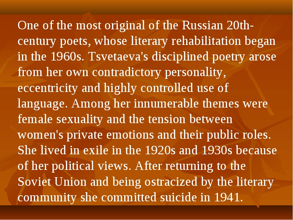 One of the most original of the Russian 20th-century poets, whose literary re...