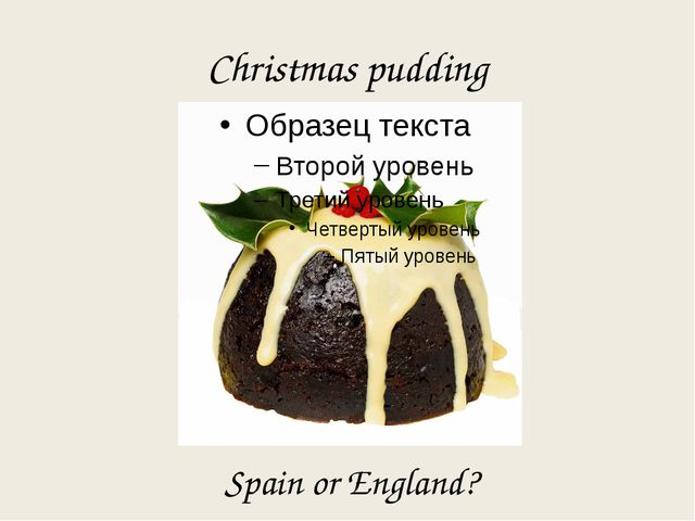 Christmas pudding Spain or England?