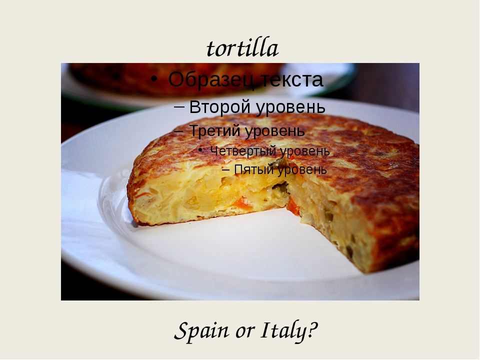 tortilla Spain or Italy?