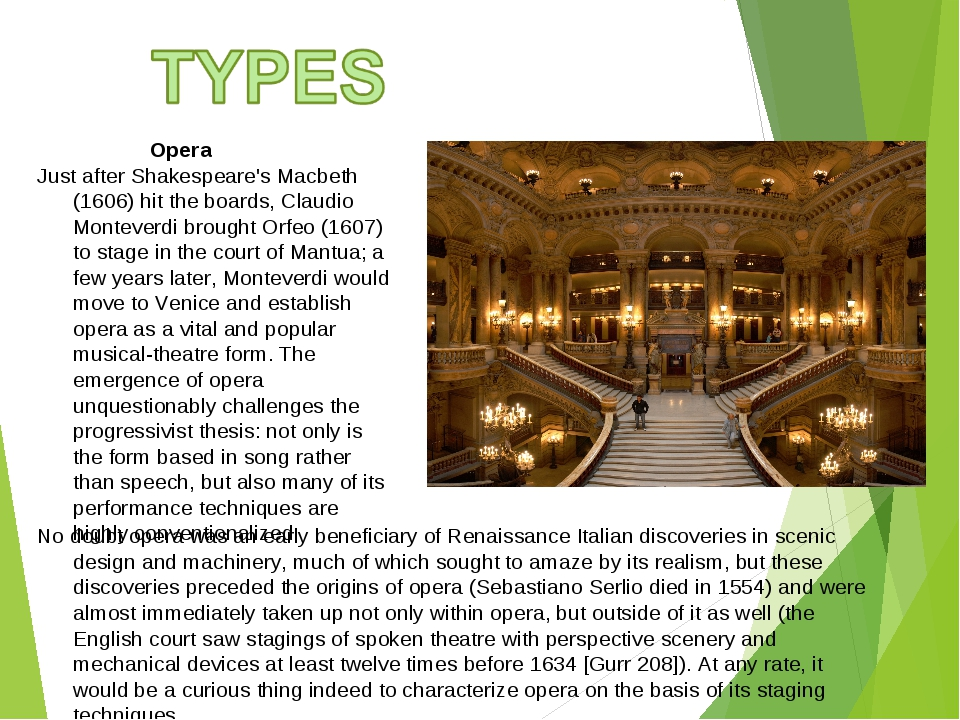 Opera Just after Shakespeare's Macbeth (1606) hit the boards, Claudio Montev...