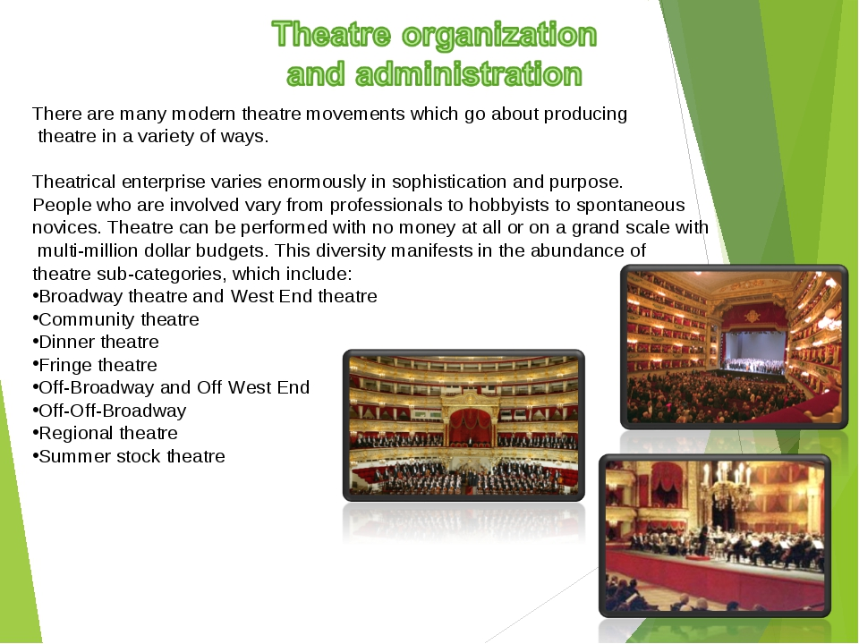 There are many modern theatre movements which go about producing theatre in a...