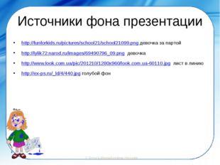 Источники фона презентации http://funforkids.ru/pictures/school21/school21099