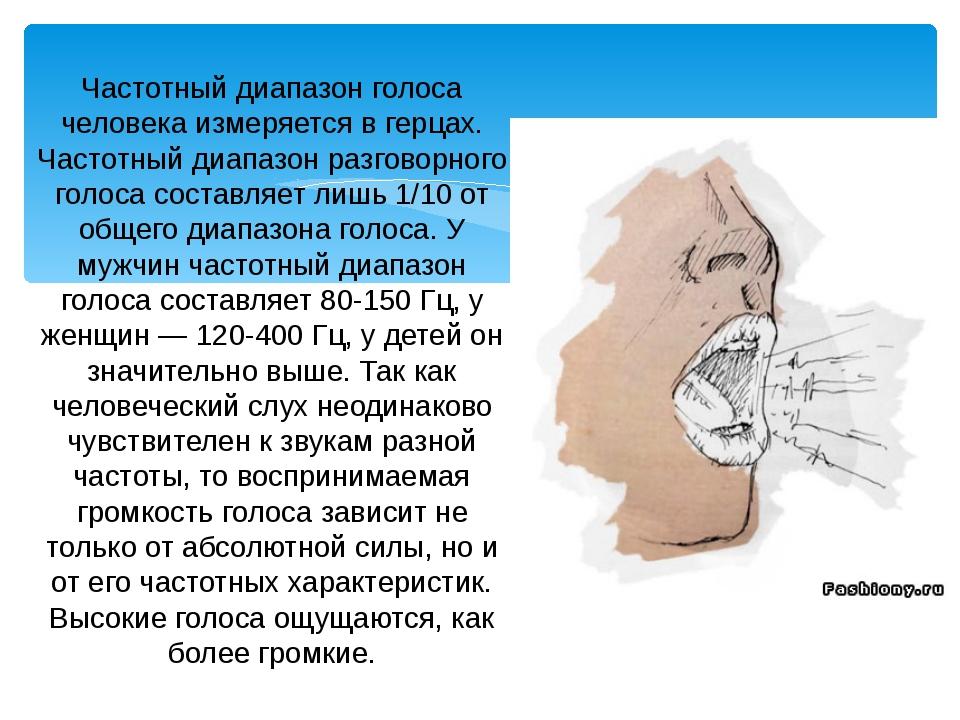 Частотный диапазон человеческого уха
