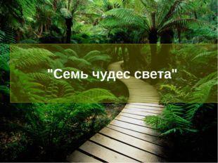 """""""Семь чудес света"""""""