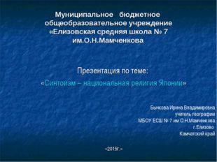 Муниципальное бюджетное общеобразовательное учреждение «Елизовская средняя шк