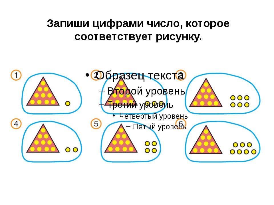 Запиши цифрами число, которое соответствует рисунку.