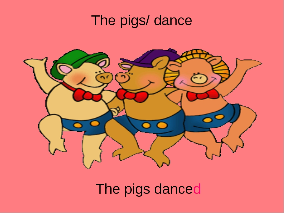 The pigs/ dance The pigs danced