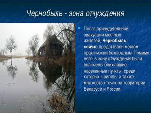 Чернобыль - зона отчуждения После принудительной эвакуации местных жителей,Ч