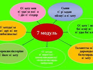 Жас ерекшеліктеріне сәйкес оқыту 7 модуль Сыни тұрғыдан ойлауға оқыту Оқытуда
