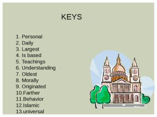 KEYS Personal Daily Largest Is based Teachings Understanding Oldest Morally O
