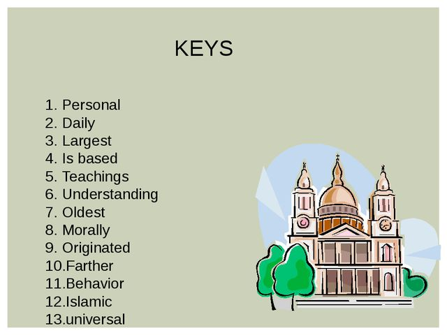 KEYS Personal Daily Largest Is based Teachings Understanding Oldest Morally O...