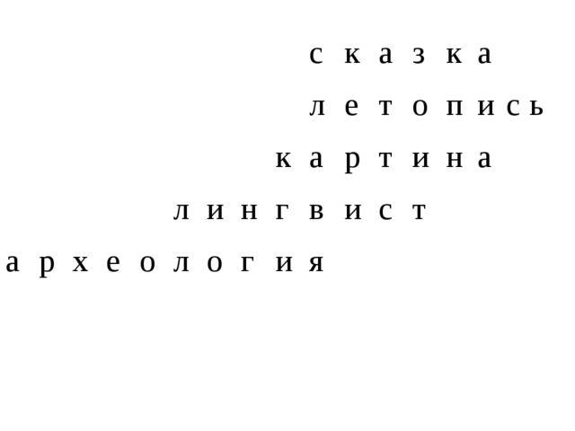 с к а з к а  л е т о п и с ь  к а р т и н а л и н г в и с т а р х е о л о...