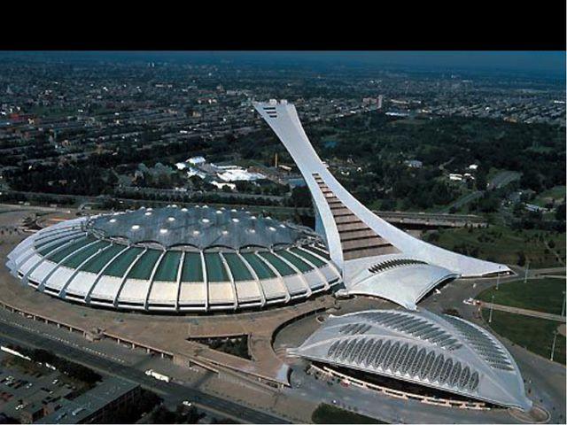 Башня монреальского Олимпийского стадиона является высочайшей в мире падающей...