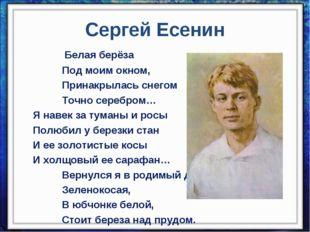 Сергей Есенин Белая берёза    Под моим окном,    Прин