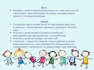 Цель: Развитие у детей познавательной активности, любознательности стремления