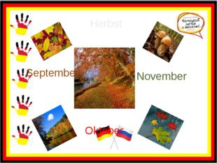 Herbst September Oktober November