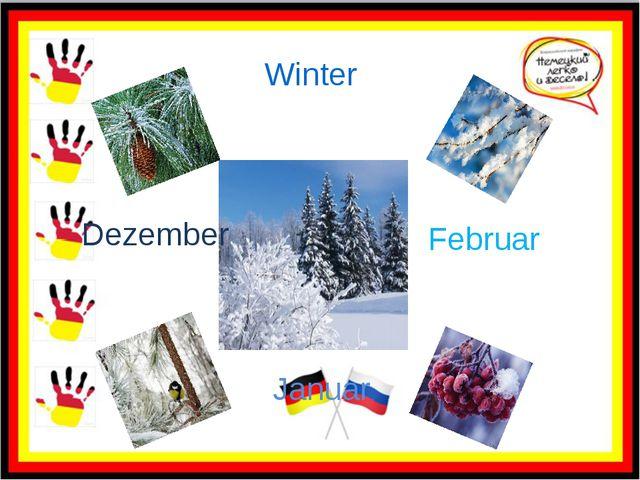 Winter Dezember Januar Februar