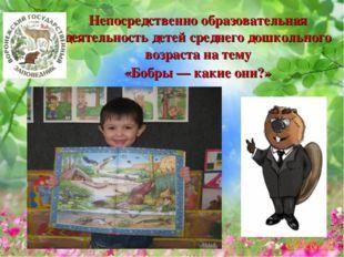 Непосредственно образовательная деятельность детей среднего дошкольного возра