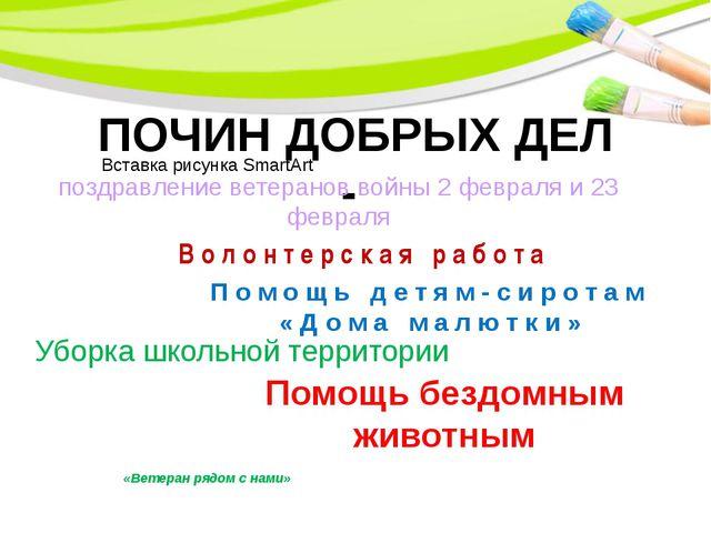 ПОЧИН ДОБРЫХ ДЕЛ - поздравление ветеранов войны 2 февраля и 23 февраля Помощ...