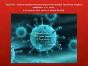 Вирусы – это мельчайшие живые организмы, размеры которых варьируют в пределах