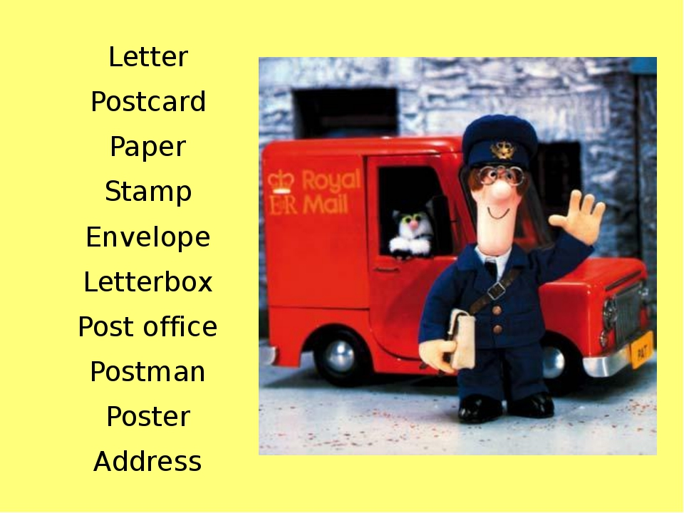 Letter Postcard Paper Stamp Envelope Letterbox Post office Postman Poster Add...