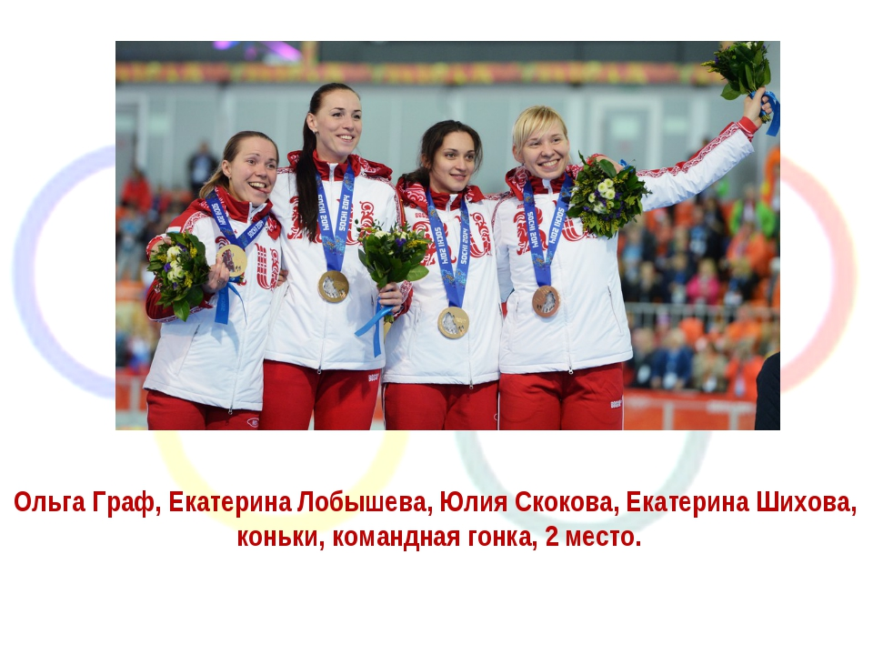 Ольга Граф, Екатерина Лобышева, Юлия Скокова, Екатерина Шихова, коньки, коман...
