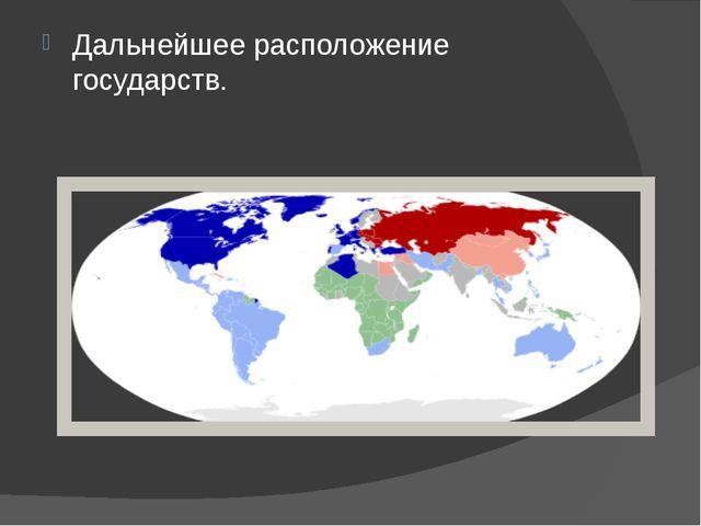 Дальнейшее расположение государств.