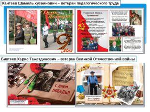 Биктеев Харис Тажетдинович – ветеран Великой Отечественной войны Кантеев Шам
