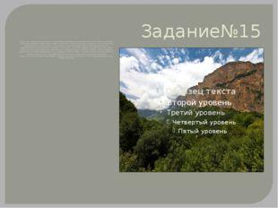 Задание№15 Территория республики представлена на юге горами на севере - накло