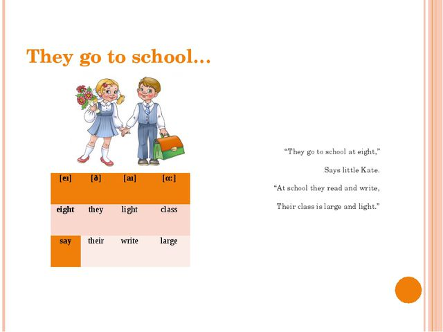 "They go to school… ""They go to school at eight,"" Says little Kate. ""At school..."