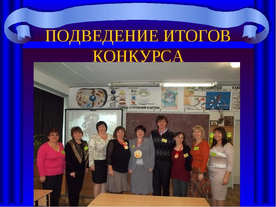 Подведение итогов конкурса учитель года