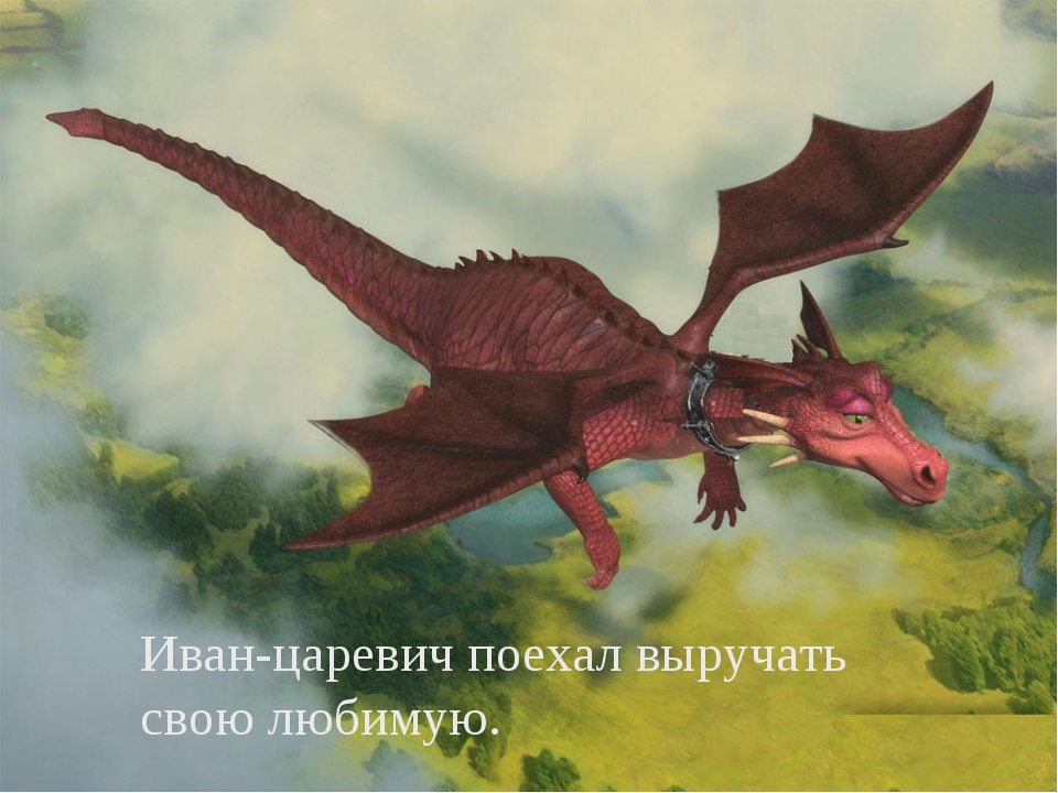 Иван-царевич поехал выручать свою любимую.