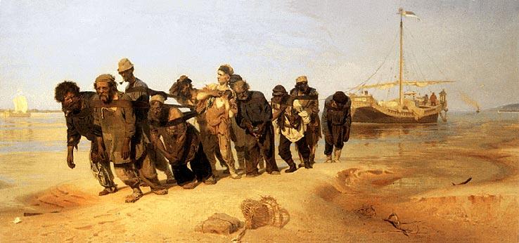 Бурлаки на Волге 1870-1873 г.г.