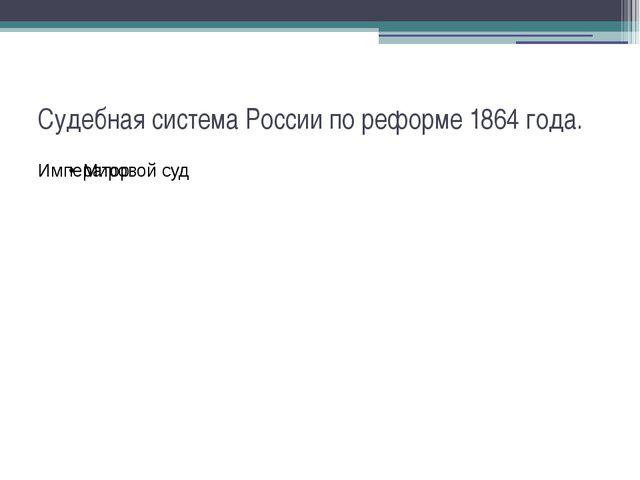 Судебная система России по реформе 1864 года.